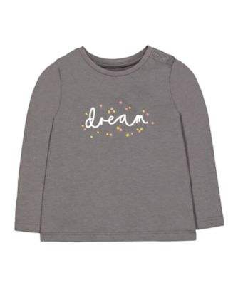 Mothercare Pastel Plains Grey Floral Dream Long Sleeve T-Shirt