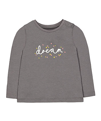 Mothercare Grey Floral Dream T-Shirt