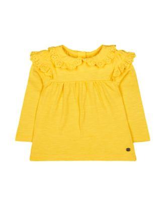 Mothercare Pastel Plains Yellow Broderie Frill Blouse
