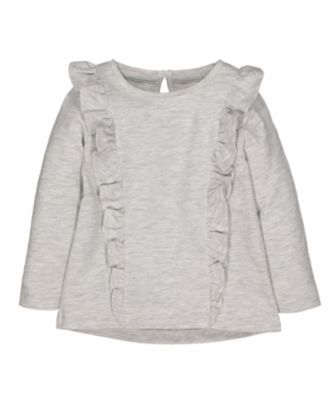 Mothercare Tee Statement Grey Frill Long Sleeve T-Shirt