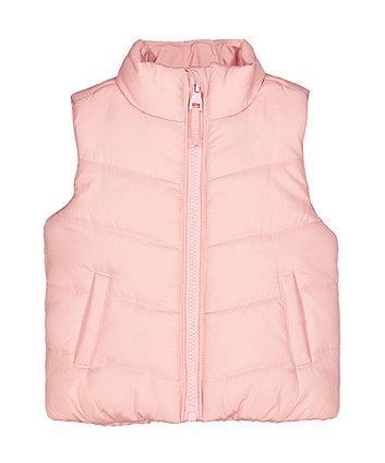 Pink Fleece-Lined Gilet