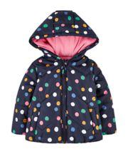 Mothercare Spotty Fleece-Lined Jacket