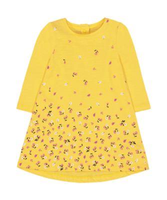 Mothercare Pastel Plains Yellow Floral Dress