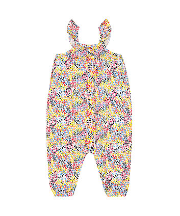 Mothercare Pink Blossom Jumpsuit