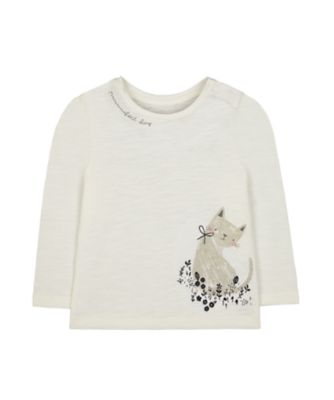 Mothercare Prairie Cream Cat T-Shirt