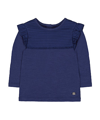 Mothercare Navy Frill T-Shirt