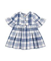 Mothercare Checked Frill Dress - Blue