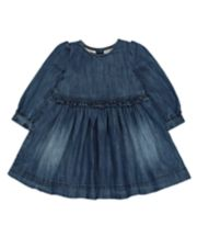 Mothercare Denim Frill Dress