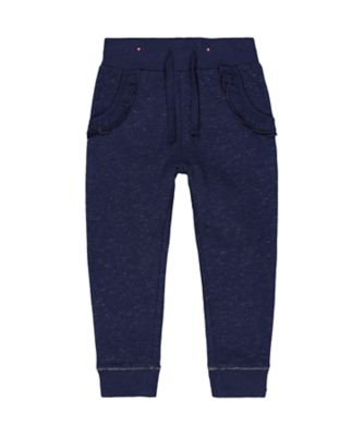 Mothercare Prairie Navy Sparkle Frilled Joggers