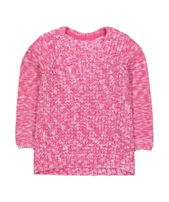 Mothercare Pretty Mash Up Pink Balloon- Sleeved Jumper