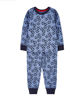 Mothercare Blue Football Pyjamas