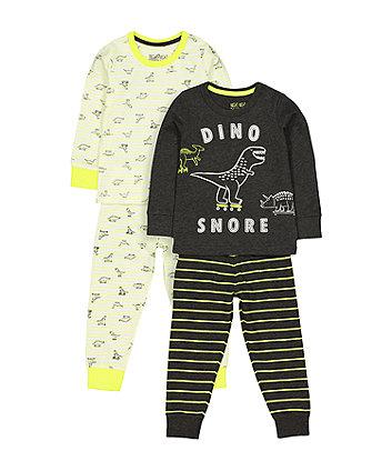 Mothercare Dinosaur Pyjamas - 2 Pack