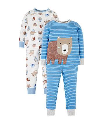 Mothercare Animal Pyjamas - 2 Pack