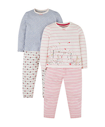 Mothercare Bunny And Floral Pyjamas - 2 Pack