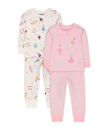 Mothercare Pink Ballerina Pyjamas - 2 Pack