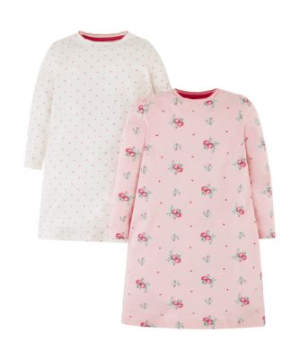 Mothercare Pink Floral Nightdresses - 2 Pack