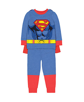 Mothercare Dc Comics Superman Dress-Up Pyjamas