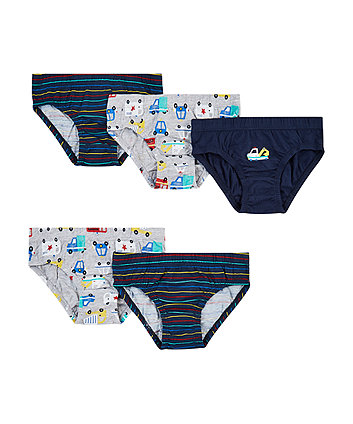 Mothercare Car Briefs - 5 Pack
