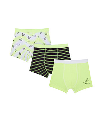 Mothercare Neon Dino Trunks - 3 Pack