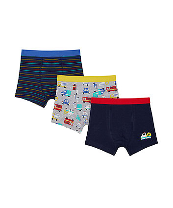 Mothercare Traffic Trunks - 3 Pack