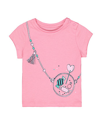 Mothercare Pink Sweets Handbag T-Shirt