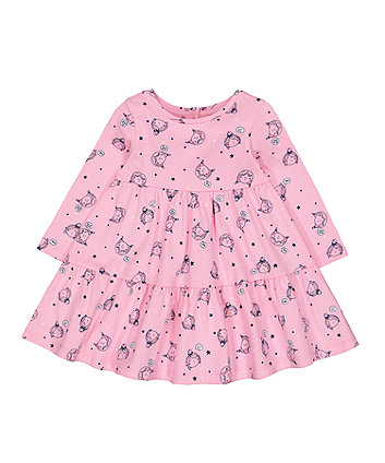 Mothercare Pink Girl Tiered Dress
