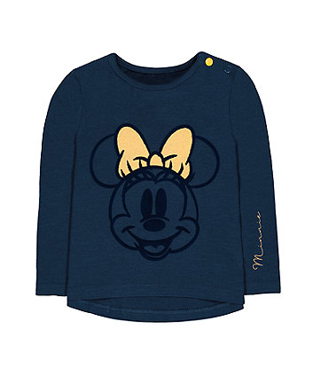Mothercare Disney Minnie Mouse Glitter Navy T-Shirt
