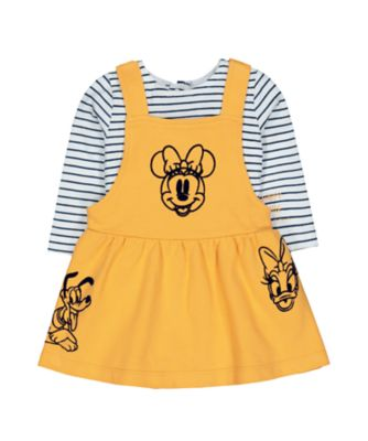 Mothercare Mickey Friends Pinny Dress With T-Shirt Set