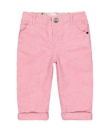 Pink Glitter Cord Trousers