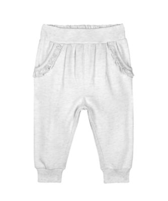 Mothercare Pastel Plains Oatmeal Frilly Joggers