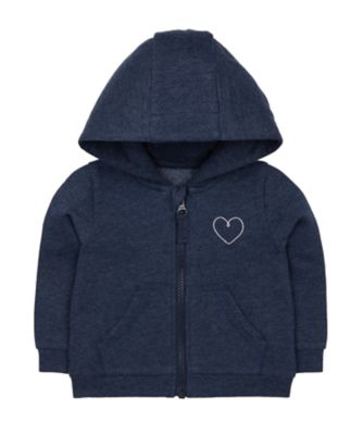 Mothercare Promo Navy Heart Zip-Through Hoodie