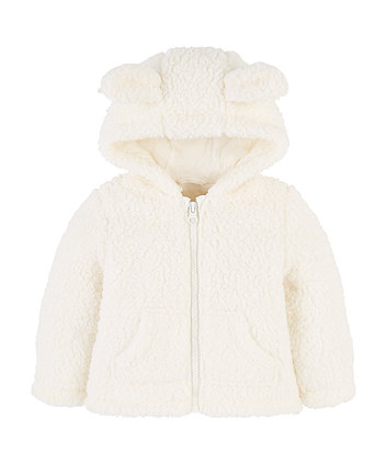 Mothercare Cream Cuddle Fleece With Ears