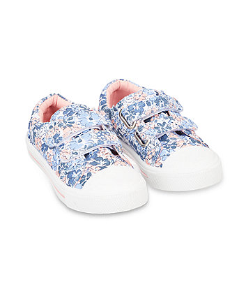 Mothercare Back To Nursery Floral Canvas Trainers