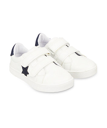 Mothercare Blue Star Trainers Shoes - White