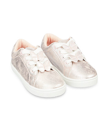 Mothercare Pink Butterfly Trainers