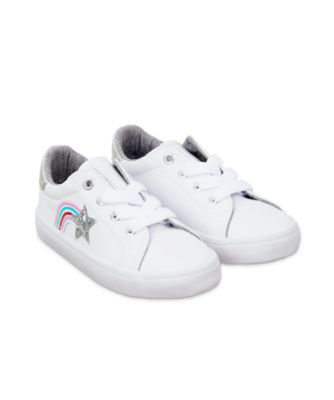 Mothercare White Glitter Star Trainers