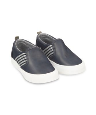 Mothercare Stripe Gusset Slip On Shoes