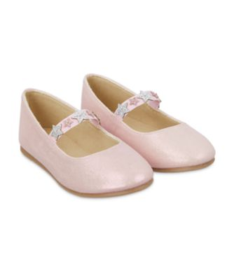 Mothercare Pink Shimmer Star Ballerina Shoes