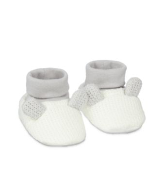 Mothercare Grey Ears Sock Top Baby Booties