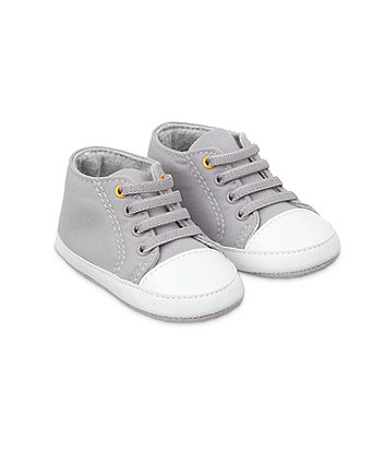 Mothercare Dino High Top Shoes - Grey