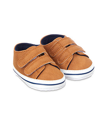 Mothercare Strap Trainers Shoes - Tan