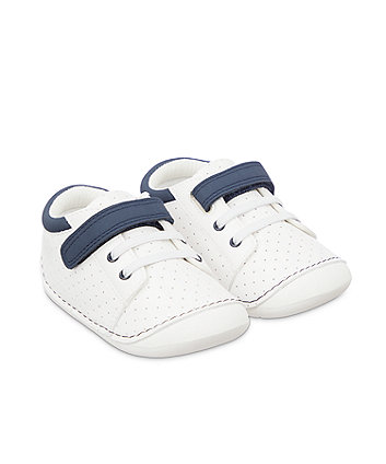 Mothercare Trainer Crawler Shoes - White