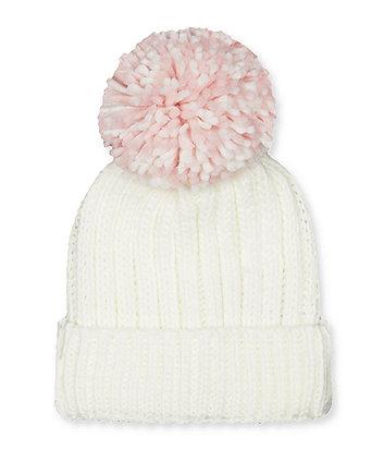Mothercare Cream Beanie Hat