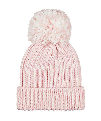 Mothercare Pink Beanie Hat