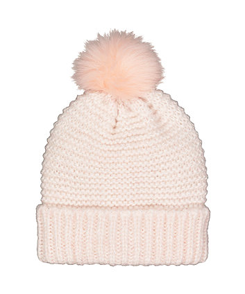 Mothercare Pink And Grey Beanie Hat