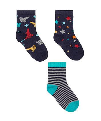 Mothercare Rocket Socks - 3 Pack