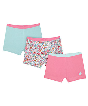 Mothercare Pink Teddy Shorts - 3 Pack