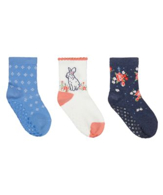 Mothercare Flower Socks With Slip-Resist Soles - 3 Pack