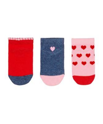 Mothercare Heart Trainer Socks - 3 Pack