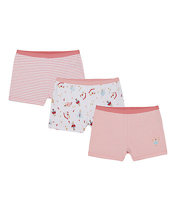 Mothercare Ballerina Brief Shorts - 3 Pack